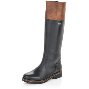 Women's Remonte Hazel 81 Tall in Schwarz/ Brown/ Cristallino/ Eagle sku: R6581-02