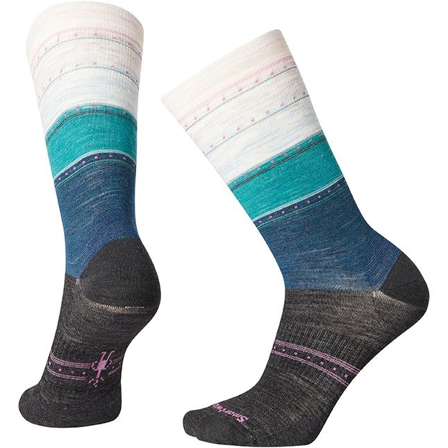 Women's Smartwool Sulawesi Stripe Crew in Deep Marlin sku: SW003900C51