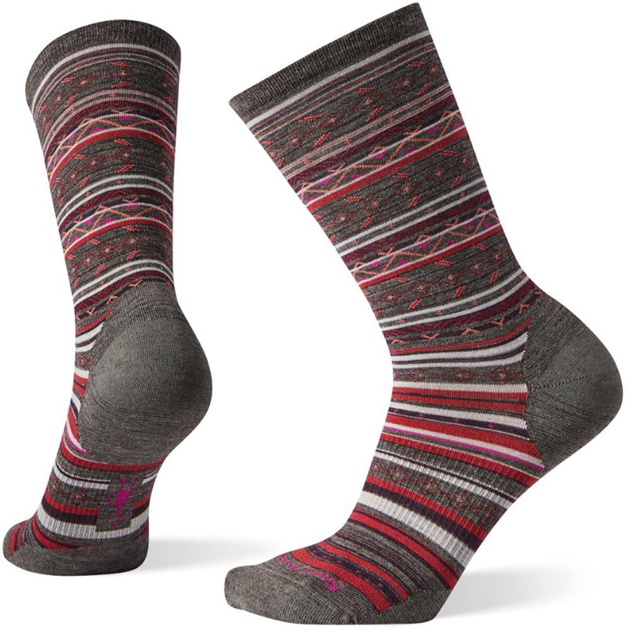 Women's Smartwool Ethno Graphic Crew in Taupe sku: SW003901236