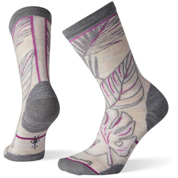 Women's Smartwool Paradise Leaf Crew in Moonbeam sku: SW004012A81