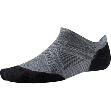 Smartwool Phd Run Light Elite Micro Light Gray Black