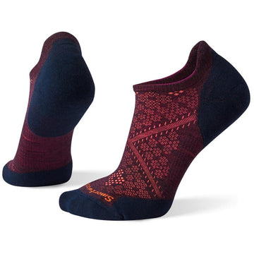 Women's Smartwool Phd Run Light Elite Micro in Bordeaux-Deep Navy sku: SW0SW210F11