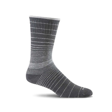 Sockwell Plantar Ease Crew Black Strip