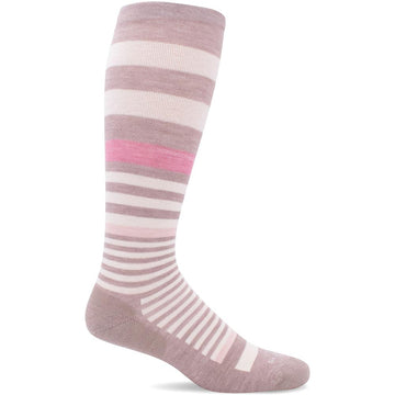 Quarter view Women's Sockwell Sock style name Orbital in color Buff Shimmer. Sku: SW28W-070