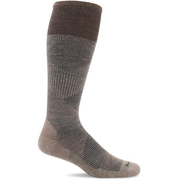 Quarter view Men's Sockwell Sock style name Diamond Dandy in color Khaki. Sku: SW61M-030