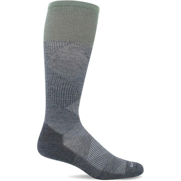 Quarter view Men's Sockwell Sock style name Diamond Dandy in color Charcoal. Sku: SW61M-850