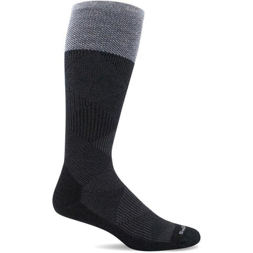 Quarter view Men's Sockwell Sock style name Diamond Dandy in color Black. Sku: SW61M-900