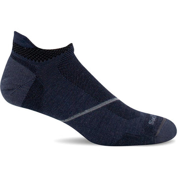 Quarter view Men's Sockwell Sock style name Pulse Micro in color Denim. Sku: SW88M-650