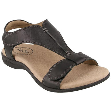 Quarter view Women's Taos Footwear style name The Show in color Black. Sku: TSH-14039BLK