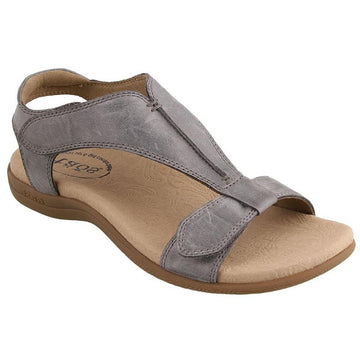 Quarter view Women's Taos Footwear style name The Show in color Steel. Sku: TSH-14039STL