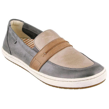Quarter view Women's Taos Footwear style name Upward in color Steel/ Taupe Multi. Sku: UPW-13999STTM