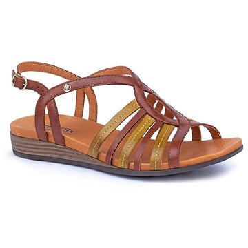 Quarter view Women's Pikolinos Footwear style name Ibiza W5N-0572Ci in color Cuero. Sku: W5N-0572C1CUE