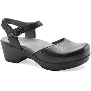 Women's Dansko Sam In Black Full Grain