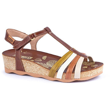 Quarter view Women's Pikolinos Footwear style name Mahon W9E-0654C1 in color Cuero. Sku: W9E-0654C1CUE