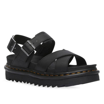 Quarter view Women's Dr. Martens Footwear style name Voss II Hydro  in color Black. Sku: R26799001