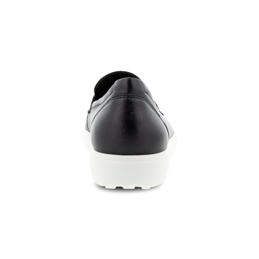 Back view Women's ECCO Footwear style name Soft 7 Loafer in color Black. Sku: 470223-01001