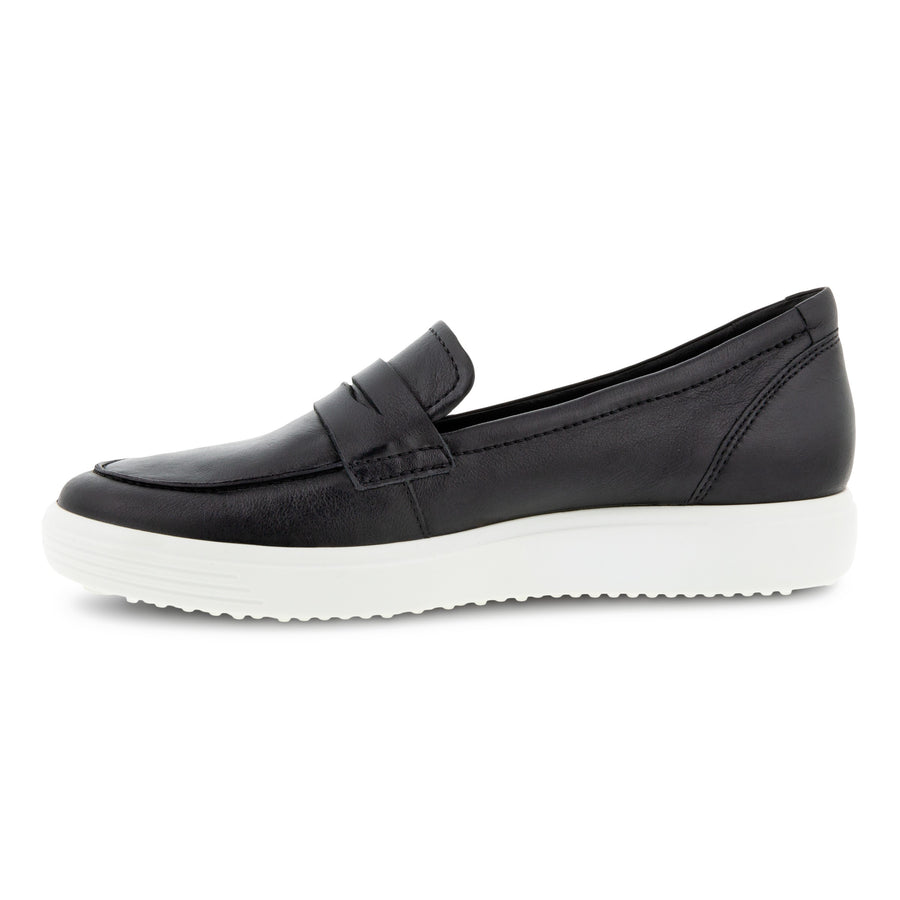 Inside view Women's ECCO Footwear style name Soft 7 Loafer in color Black. Sku: 470223-01001