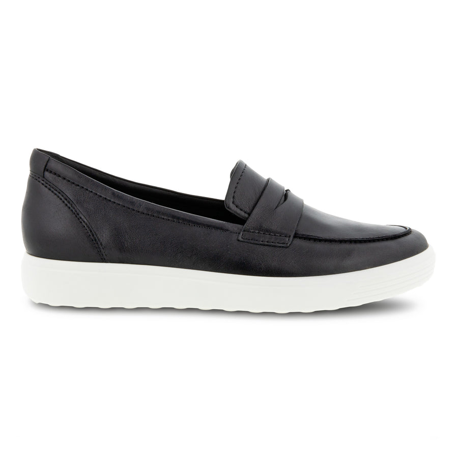 Side view Women's ECCO Footwear style name Soft 7 Loafer in color Black. Sku: 470223-01001