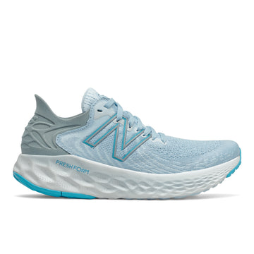Side view Women's New Balance Footwear style name Fresh Foam 1080V11 in color Uv Glo/ Star Glo. Sku: W1080W11