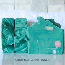 Load image into Gallery viewer, Confetti Handmade Soap - Coconut Fragrance