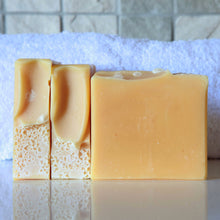Load image into Gallery viewer, Lemon & Cream Turmeric-infused salt bar for velvety-smooth skin. From Anansé Naturals.