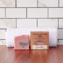 Load image into Gallery viewer, Scented with a beautiful, rose floral fragrance, this is a bar you won`t want to miss. This pretty, mild, and gentle soap has a nice creamy lather and leaves your skin feeling clean and nourished.