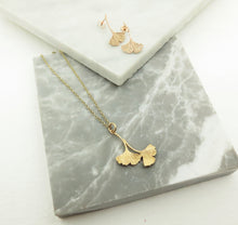 Load image into Gallery viewer, Double Ginkgo Pendant