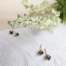 Load image into Gallery viewer, Mini Classic Rose Stud Earrings