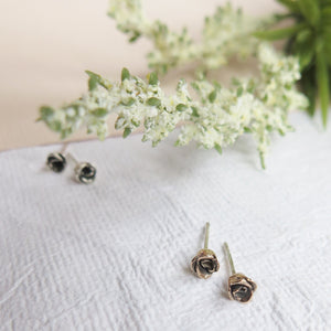 Mini Classic Rose Stud Earrings