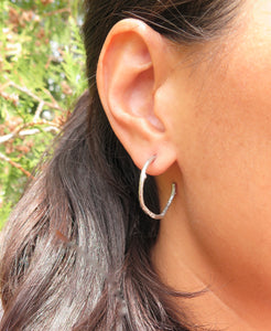 Twig Hoop Earrings