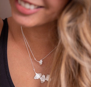 Single Ginkgo Leaf Necklace