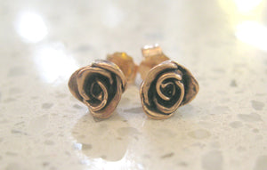 Classic Rose Stud Earrings