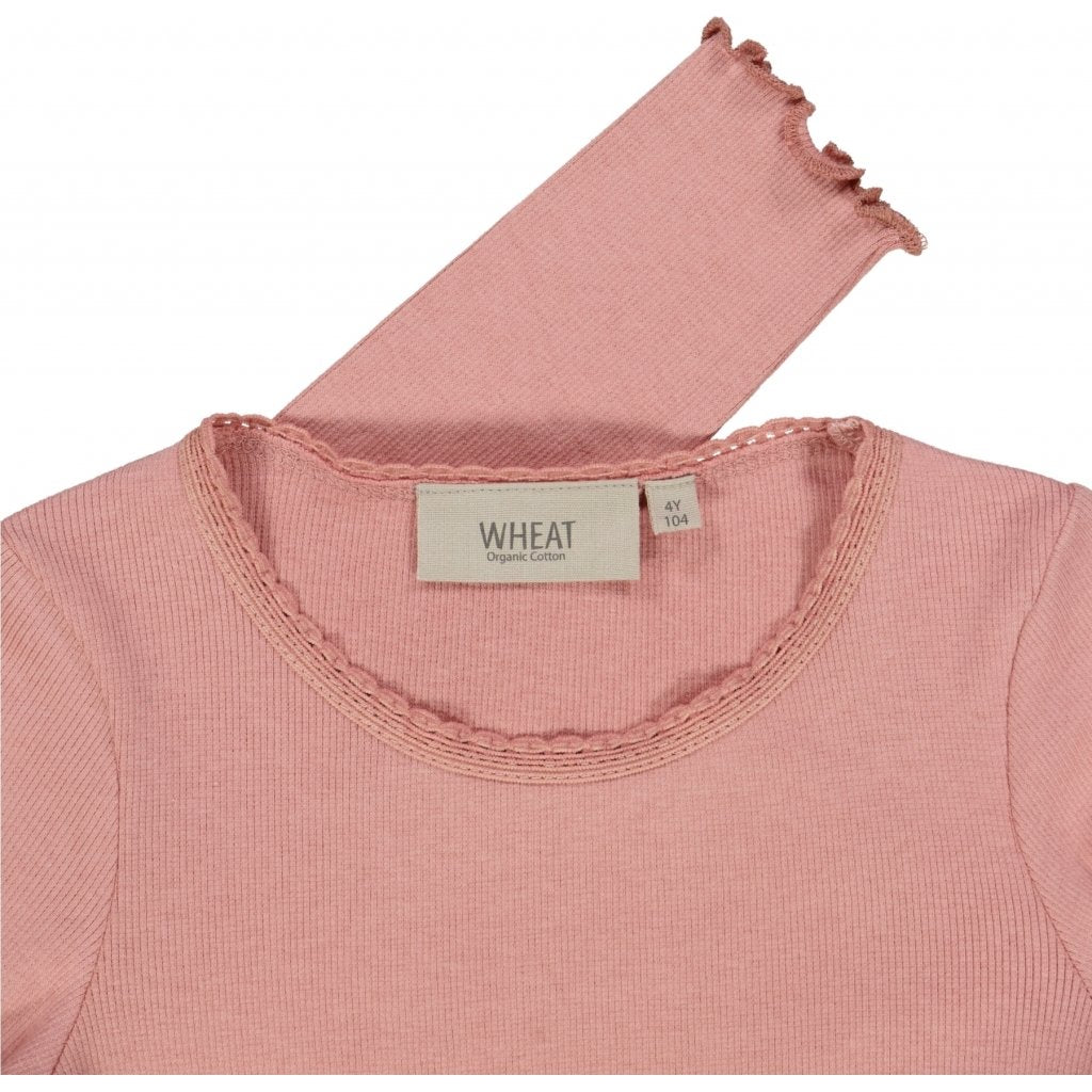 Wheat Langærmet Blonde Rib T-Shirt Jersey Tops and T-Shirts 2024 rosie