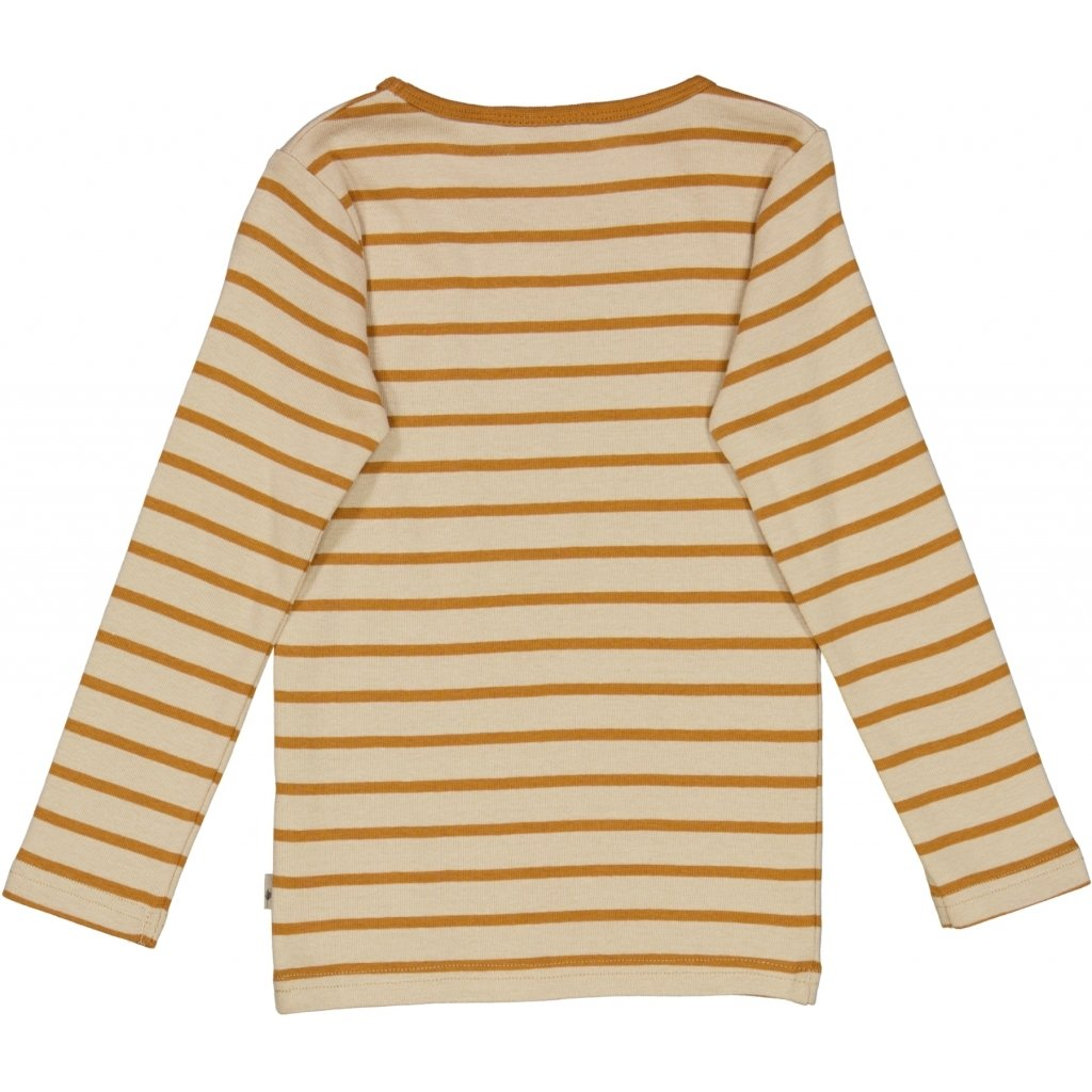 Wheat Langærmet Stribet T-Shirt Jersey Tops and T-Shirts 4341 almond