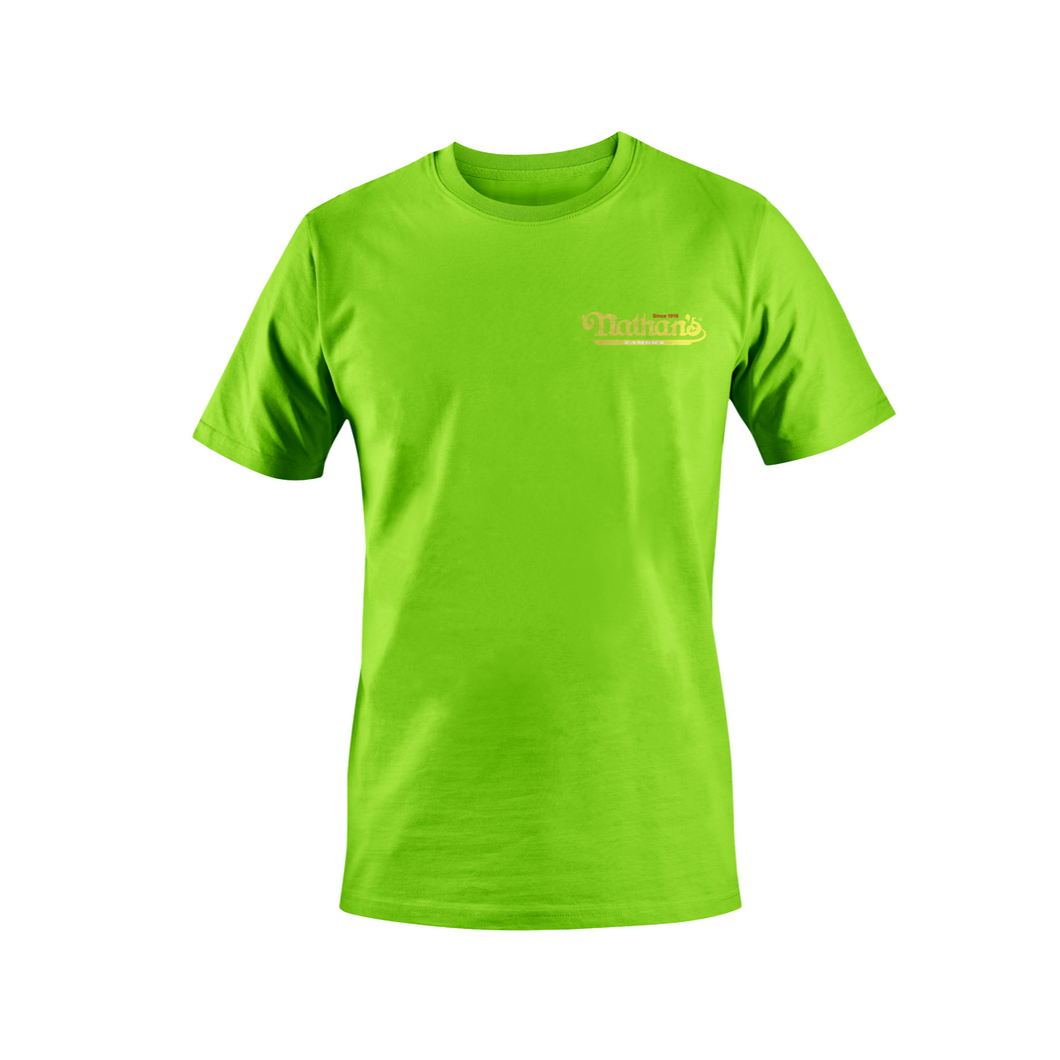 Nathan's Famous Green Logo'd Tshirt - Unisex