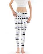 Load image into Gallery viewer, Blue Heart Patterned Leggings