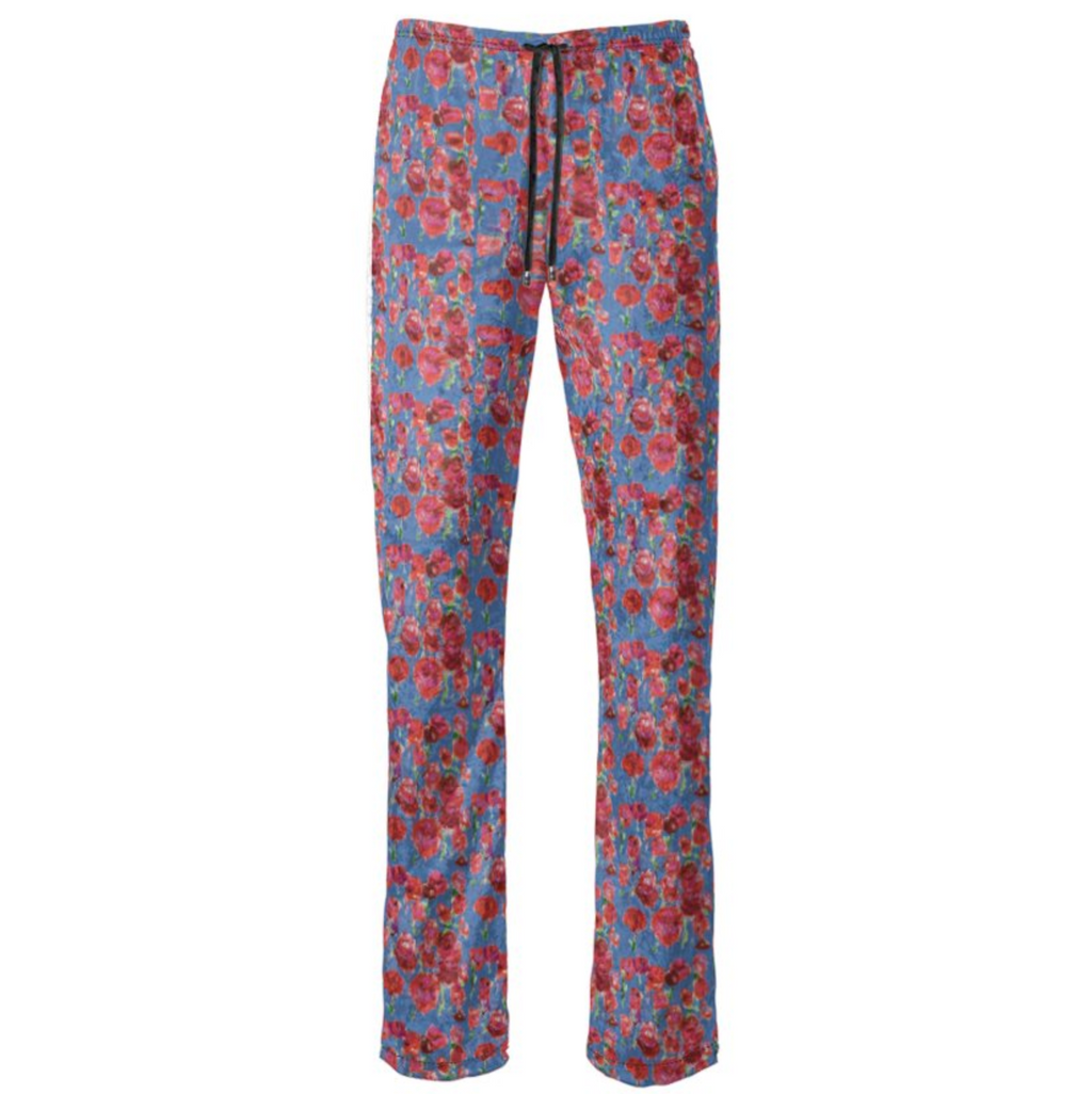 Blue and Red Rose Pants - MASH Gallery