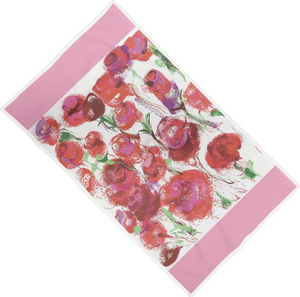 Pink Lemonade Double-Sided Rose Towel - MASH Gallery