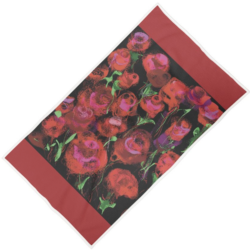 Olé Olé Double-Sided Rose Towel - MASH Gallery