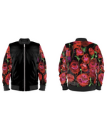 Load image into Gallery viewer, Gender-Fluid Rose Sleeved Bomber Jacket