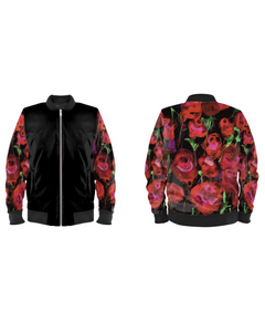 Gender-Fluid Rose Sleeved Bomber Jacket