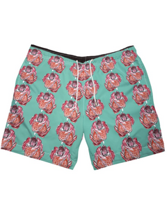 Roses Trunks - Teal
