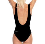 Load image into Gallery viewer, Pink Fleur Striped One Piece Swimsuit - MASH Gallery