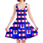 Load image into Gallery viewer, Brilliant Blue Skater Dress