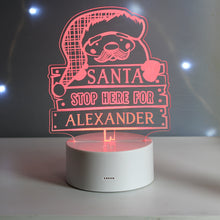 Load image into Gallery viewer, Santa Stop Here LED Colour Changing Night Light