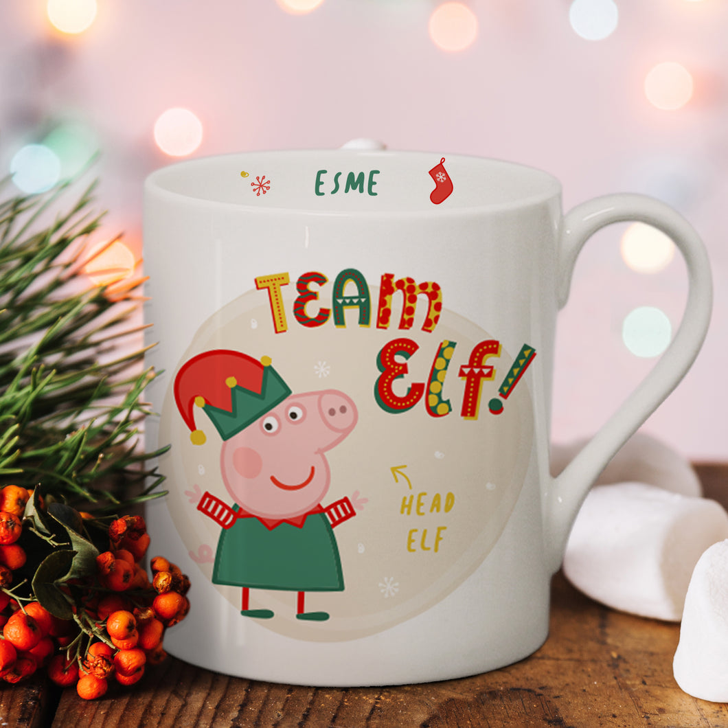 Peppa Pig Team Elf Balmoral Mug