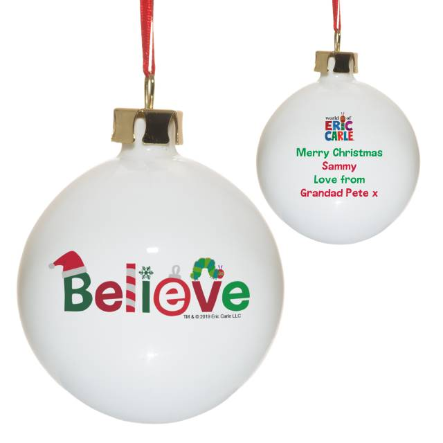 Very Hungry Caterpillar Believe Christmas Bauble