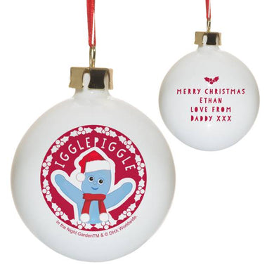 In the Night Garden Iggle Piggle Snowtime Christmas Bauble