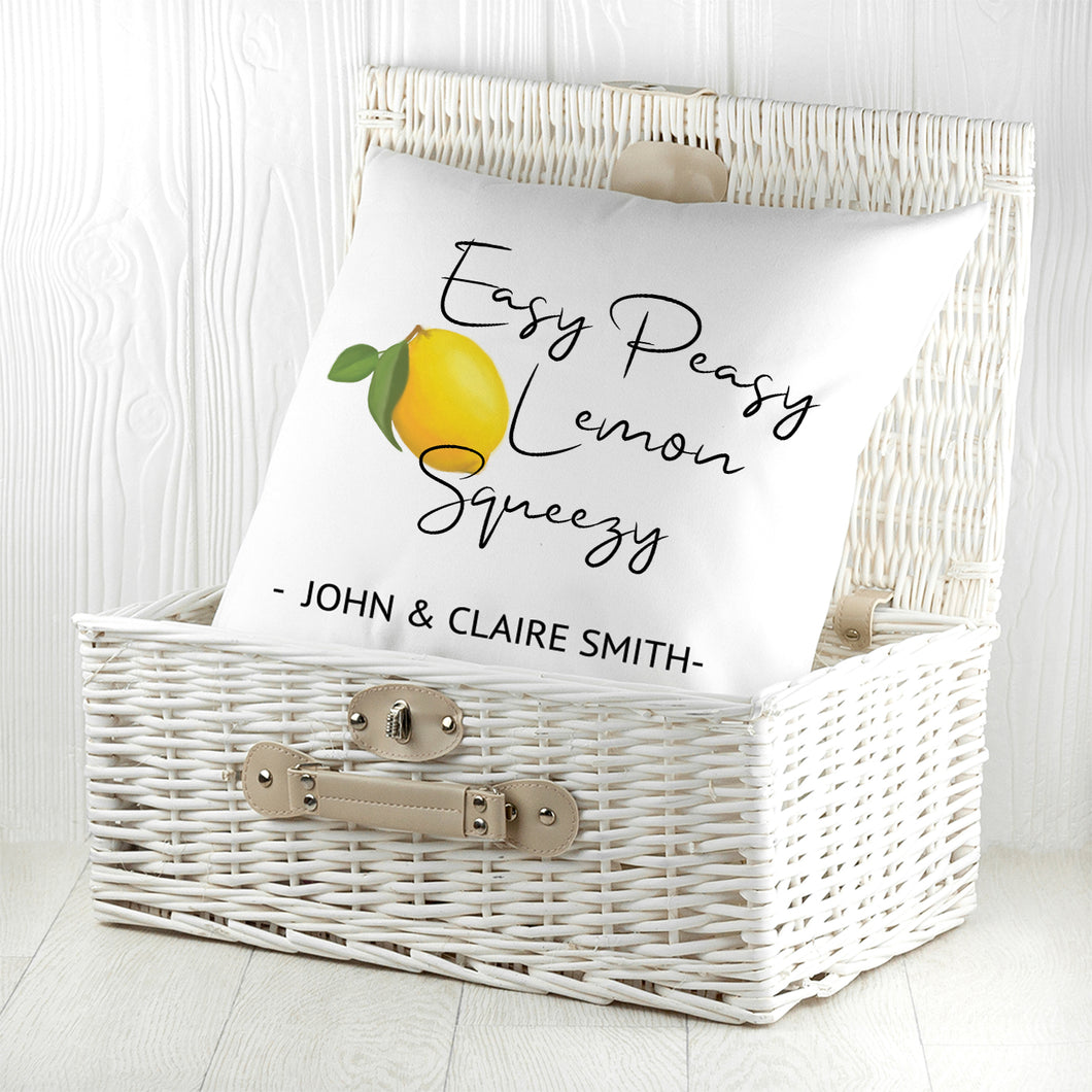 Easy Peasy Lemon Squeezy Cushion Cover