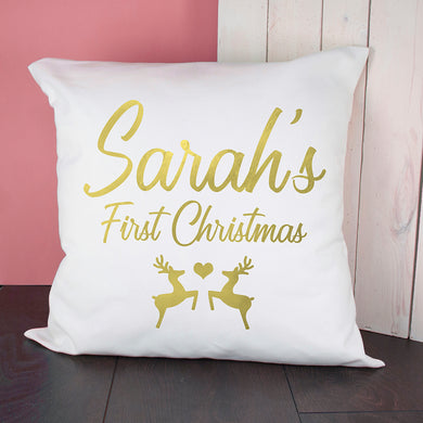 Baby's First Christmas Cushion Cover